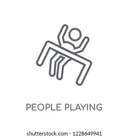 People playing Limbo icon linear icon. Modern outline People playing Limbo logo concept on white background from Recreational games collection.