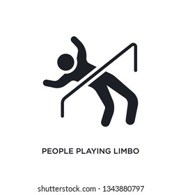 people playing limbo isolated icon. simple element illustration from recreational games concept icons. people playing limbo editable logo sign symbol design on white background. can be use for web