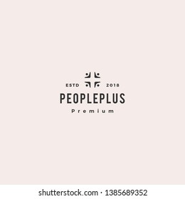people plus family health care group logo vector icon illustration