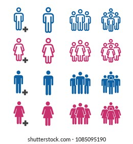 people and population icon set