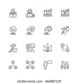 People profession icons