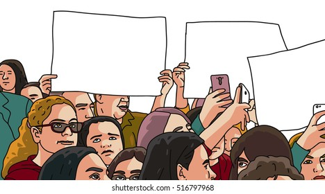 people protest