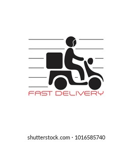 people riding motorcycle fast delivery symbol vector