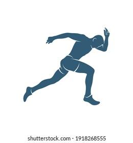 People Run vector illustration design, creative Run People logo design concept template, symbols icons
