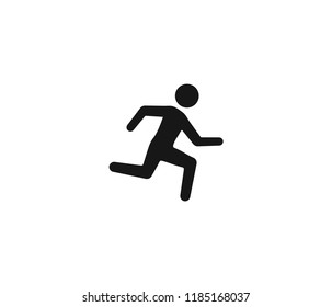 people running icon vector