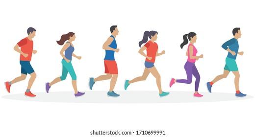 マラソン 素材