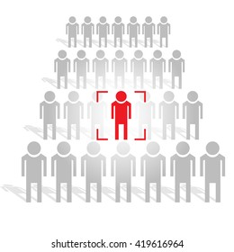 People search industry. Human resources management, Vector illustration