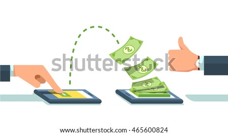 people sending receiving money wireless their のベクター画像素材
