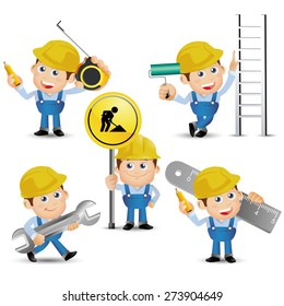 People Set - Profession - Builder with tool