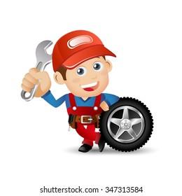 People Set - Profession - Mechanician