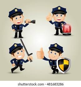 People Set - Profession - Policeman