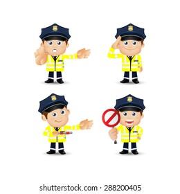 People Set - Profession - Traffic Policeman