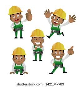 People Set - Profession - Worker. builder