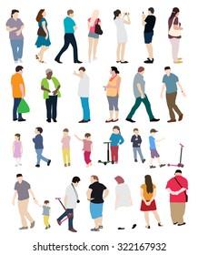 People Set Vector Illustration EPS10