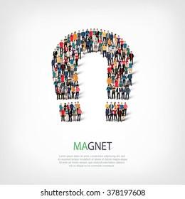 people  shape  magnet horseshoe