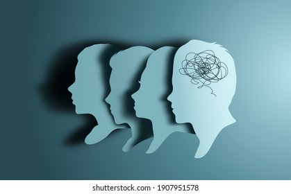 People sharing common problems together through talking therapy. Mindfulness vector illustration
