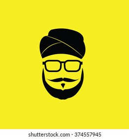People Sikh man graphic icon