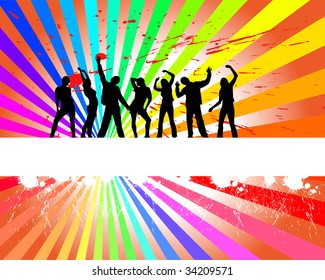 people silhouette - vector