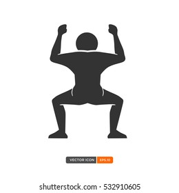 People Silhouette Vector in manequin style. Vector of Pictogram pose. Vector Illustration eps.10