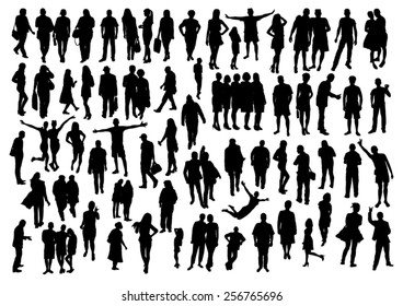 People Silhouettes Set
