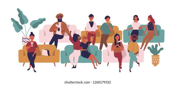 Ilustraciones Imágenes Y Vectores De Stock Sobre Gente Hablando