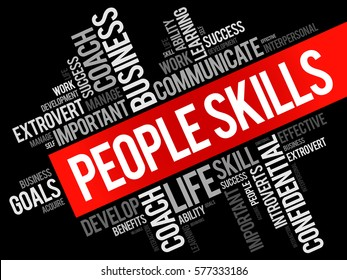 People Skills word cloud collage, business concept background