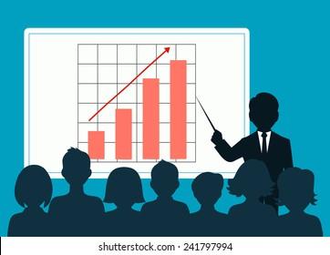 people speaking before an audience