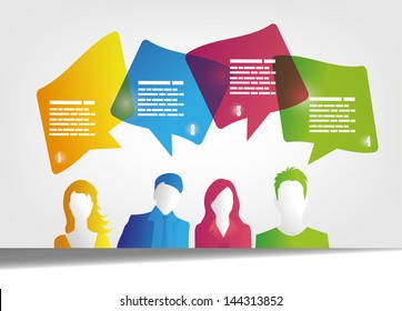 people and speech bubbles design