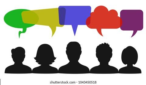 People speech, communication sign - stock vector