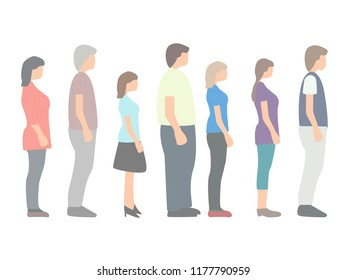 people are standing in line