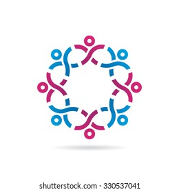 People In Strong Network Icon Logo Template