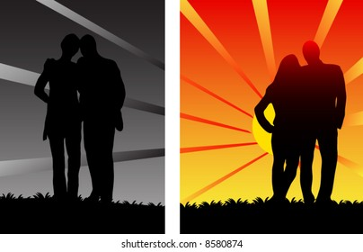 People and sunset