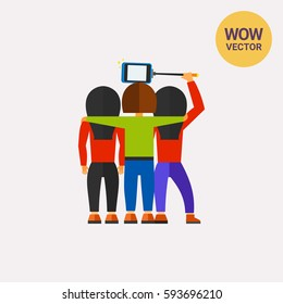 People Taking Selfie Together Icon