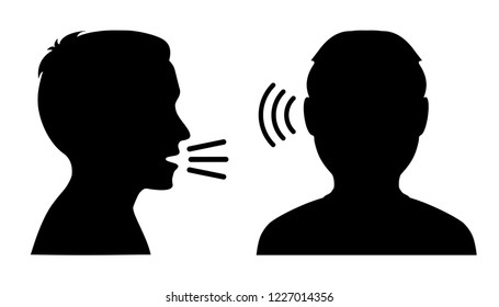 People talk: speak and listen – stock vector