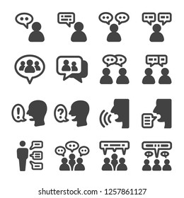 people talking icon set,vector and illustration