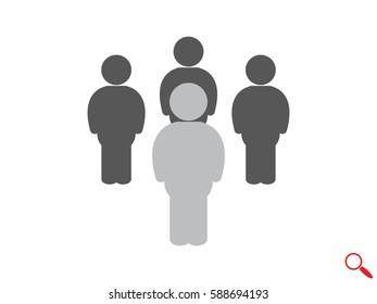 People team, icon, vector illustration eps10