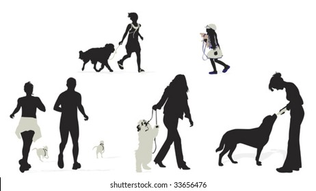 people with their dogs