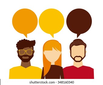 people thinking design, vector illustration eps10 graphic