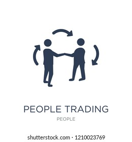 People Trading icon. Trendy flat vector People Trading icon on white background from People collection, vector illustration can be use for web and mobile, eps10