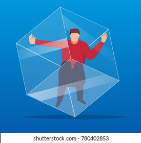 People trapped in the cube