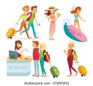 people traveling on summer holidays