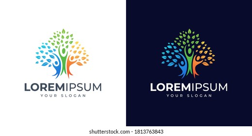 people and tree logo design inspiration