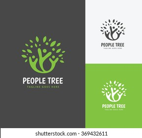 People Tree Logo Template.