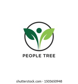 People Tree Vector Logo Template