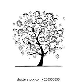 People tree for your design. Vector illustration