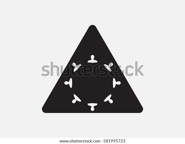 people, triangle, icon, vector illustration eps10