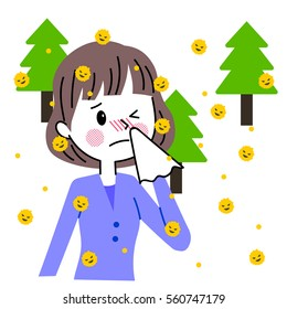 People troubled with hay fever