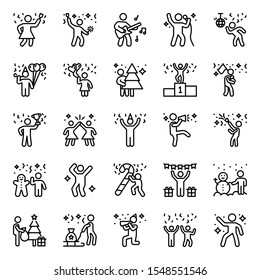 People using phone at different places line icons pack is presented to know about disasters while using phone. Get more knowledge about it and download these icons now