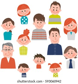 people of various ages with vector illustration