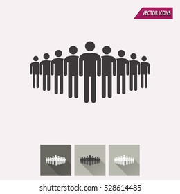 People vector icon. Illustration isolated for graphic and web design.